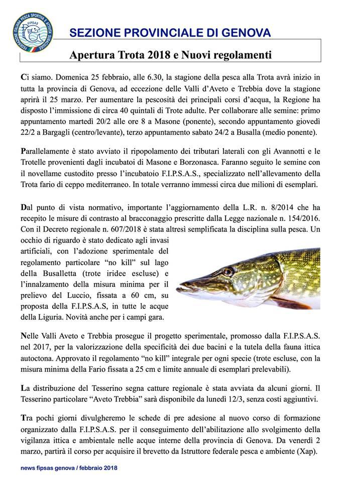news letter fipsas, casa del pescatore, negozio pesca